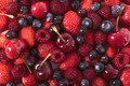 Картинка ягоды, малина, вишня, клубника, черника