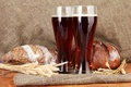 Картинка колоски, стаканы, квас, хлеб, напиток