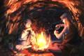 Картинка аниме, арт, пещера, Кайто, Hunter x Hunter, Джин