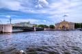 Картинка небо, мост, река, rivers, bridges, St. Petersburg, Санкт-Петерберг