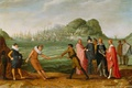Картинка дерево, масло, картина, Адам Уиллаертс, Аллегория Победы Голландцев над Испанским Флотом
