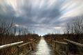 Картинка природа, мост, вечер