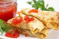 Картинка зелень, pancakes, выпечка, блинчики, икра, baking, caviar