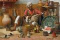 Картинка французский живописец, 1910, L'Atelier de Poterie, Jean Discart, гончарная мастерская, Жан Дискарт, масло, холст