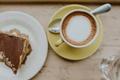Картинка ложка, завтрак, блюдце, кофе, напиток, десерт, кружка, торт, посуда