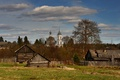 Картинка Костромская губерния, дома, храм