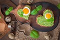 Картинка День святого Валентина, бутерброды, сердечки, завтрак, еда, праздник