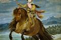 Картинка лошадь, картина, Диего Веласкес, Конный Портрет Принца Бальтазара Карлоса