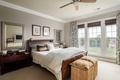 Картинка спальня, окно, кровать, подушки