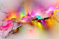 Картинка background, rainbow, colorful, colors, splash, bright, painting, фон, abstract, краски