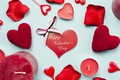 Картинка Свечи, Сердечки, Праздник, День влюбленных