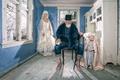 Картинка стул, борода, дед, куклы, невеста