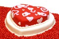 Картинка Valentine's Day, сладкое, конфеты, сердце, sweets, торт, красный