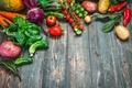 Картинка healthy, harvest, fresh, овощи, wood, урожай, vegetables
