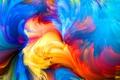 Картинка rainbow, painting, colorful, abstract, splash, colors