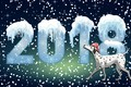 Картинка Фон, Настроение, Собака, Праздник, 2018, Год Собаки, Минимализм, Зима, Новый год, Снег