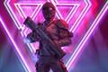 Картинка rifle, soldier, cyberpunk