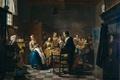 Картинка люди, интерьер, картина, Новая Песня, Ян Йозеф Хореманс II